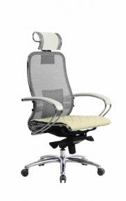 Кресло SAMURAI S-2.03 Белый Лебедь с чехлом CSm-10