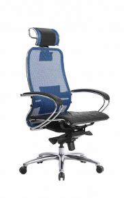 Кресло SAMURAI S-2.03 Синий с чехлом CSm-10