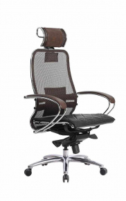 Кресло SAMURAI S-2.03 Темно-коричневый с чехлом CSm-10