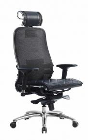 Кресло SAMURAI S-3.03 Черный Плюс с чехлом CSm-10