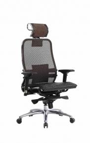Кресло SAMURAI S-3.03 Темно-коричневый с чехлом CSm-10