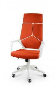 Кресло Norden IQ (White plastic orange) белый пластик, оранжевая ткань