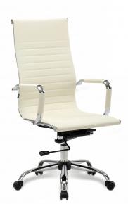 Кресло офисное BRABIX Energy EX-509 экокожа хром бежевое