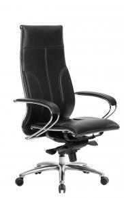 Кресло SAMURAI Lux Черный с бежевой прострочкой
