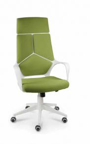 Кресло Norden IQ (White plastic green) белый пластик, зеленая ткань