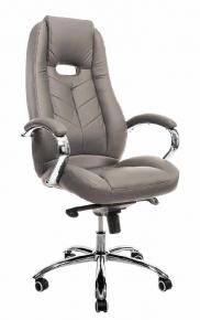 Кресло Everprof Drift M (Кожа) Серый