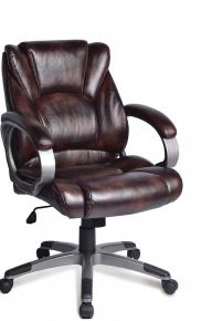 Кресло офисное BRABIX Eldorado EX-504 экокожа коричневое