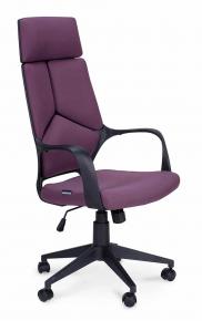 Кресло Norden IQ (black plastic violet) черный пластик, фиолетовая ткань