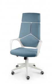 Кресло Norden IQ (White plastic blue) белый пластик, голубая ткань