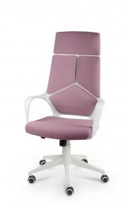 Кресло Norden IQ (White plastic violet) белый пластик, фиолетовая ткань