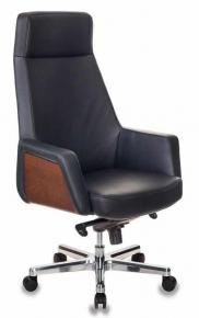 Кресло Бюрократ ANTONIO/BLACK черный кожа крестовина алюминий