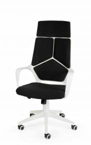Кресло Norden IQ (white+black) белый пластик, черная ткань