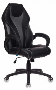 Кресло Бюрократ T-702/BL+GREY черный/серый