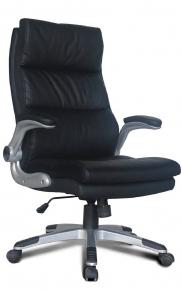 Кресло офисное BRABIX Fregat EX-510 рециклированная кожа черное