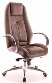 Кресло Everprof Drift Full AL M (Кожа) Коричневый