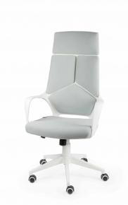 Кресло Norden IQ (white+grey) белый пластик, серая ткань