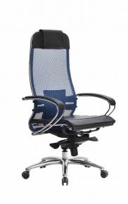 Кресло SAMURAI S-1.03 Синий с чехлом CSm-25