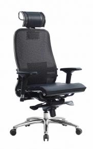 Кресло SAMURAI S-3.03 Черный Плюс с чехлом CSm-25
