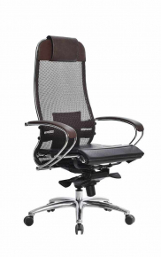 Кресло SAMURAI S-1.03 Темно-коричневый с Чехлом CSm-25