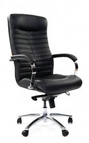 Кресло Chairman 480 кожа/кз черный