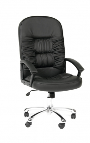 Кресло Chairman 418 кожа черный