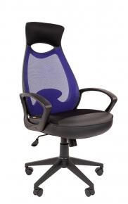 Кресло Chairman 840 черный пластик TW-05 синий