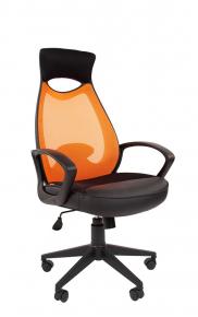 Кресло Chairman 840 черный пластик TW-66 оранжевый