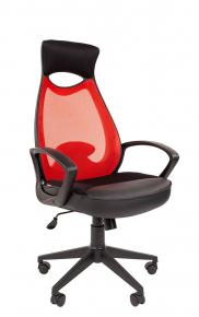 Кресло Chairman 840 черный пластик TW-69 красный