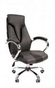 Офисное кресло Chairman 901 экопремиум черный / серый