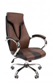 Офисное кресло Chairman 901 экопремиум черный / коричневый