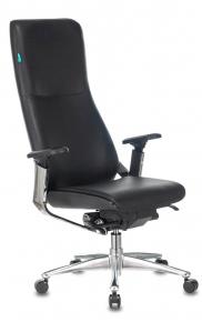 Кресло руководителя Бюрократ ARTI черный кожа