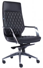 Кресло Everprof Roma (Кожа) Черный