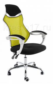 Кресло Woodville Armor бело-черно-зеленое