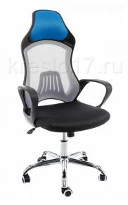 Кресло Woodville Atlant бело-черное-голубое