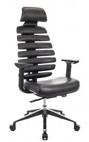 Кресло Everprof Ergo Black экокожа черный