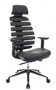 Кресло Everprof Ergo Black кожа черный