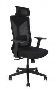 Кресло офисное Norden / Бостон / черная сетка / черная ткань / черный пластик