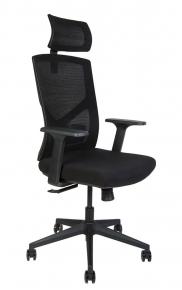 Кресло офисное Norden / Денвер / черная сетка / черная ткань / черный пластик
