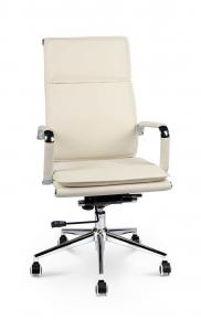 Кресло офисное Norden / Харман / (ivory) хром / слоновая кость экокожа