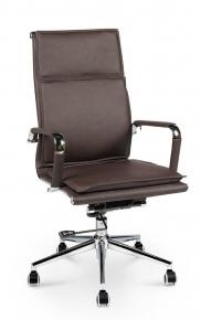 Кресло офисное Norden / Харман / (brown) хром / темно-коричневая экокожа