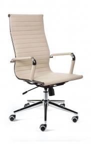 Кресло офисное Norden / Техно / хром / слоновая кость экокожа