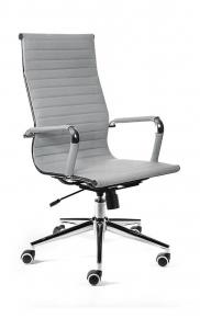 Кресло офисное Norden / Техно / хром / серая экокожа