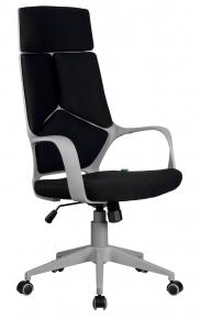 Кресло Riva Chair 8989 серый пластик - чёрный