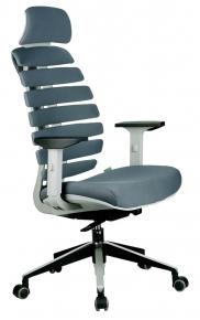 Кресло Riva Chair Shark серый пластик / серая ткань