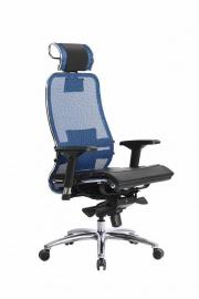 Кресло SAMURAI S-3.02 Синий с чехлом CSm-25