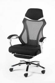 Кресло Norden 007 (black (white plastic) белый пластик, черная ткань, черная сетка