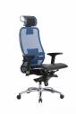 Кресло SAMURAI S-3.02 Синий с чехлом CSm-10