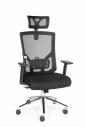 Кресло офисное Norden / Гарда / черный пластик / черная сетка / черная сидушка