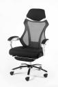 Кресло офисное Norden / 007 / (black (white plastic) белый пластик / черная ткань / черная сетка